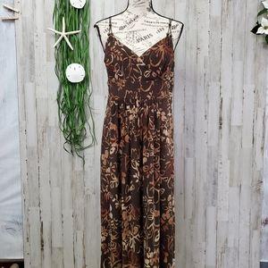 American Living Brown Floral Sun Dress